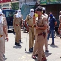 मेरठ में हॉटस्पॉट इलाका सील करने पहुंची पुलिस पर पथराव