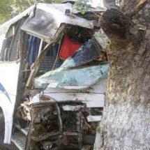 यूपी के बाराबंकी में मिनी बस पेड़ से टकराने से दर्जनों यात्री घायल
