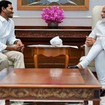 आंध्र प्रदेश के मुख्यमंत्री जगन मोहन रेड्डी ने पीएम मोदी से की मुलाकात