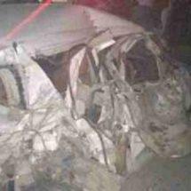 उत्तर प्रदेश के बिजनौर में एक कार खाई में गिरने से चार की मौत